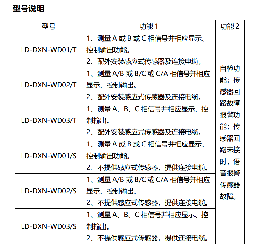 LD-DXN-WD系列